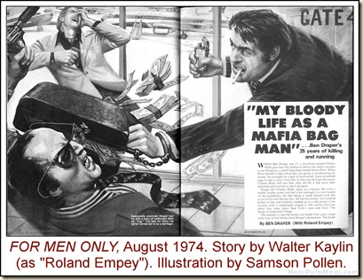 14 - FOR MEN ONLY, Aug 1974, Walter Kaylin story, Samson Pollen art
