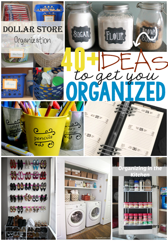 40  Ideas to Get YOU Organized at GingerSnapCrafts.com #linkparty #features_thumb