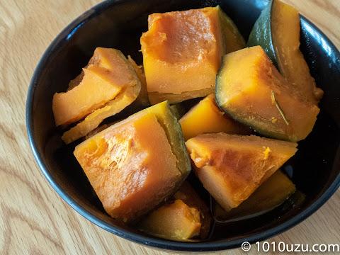 かぼちゃの煮物できあがり
