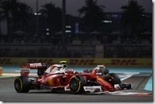 Kimi Raikkonen nel gran premio di Abu Dhabi 2016