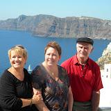 Santorini caldera in the Greek Isles