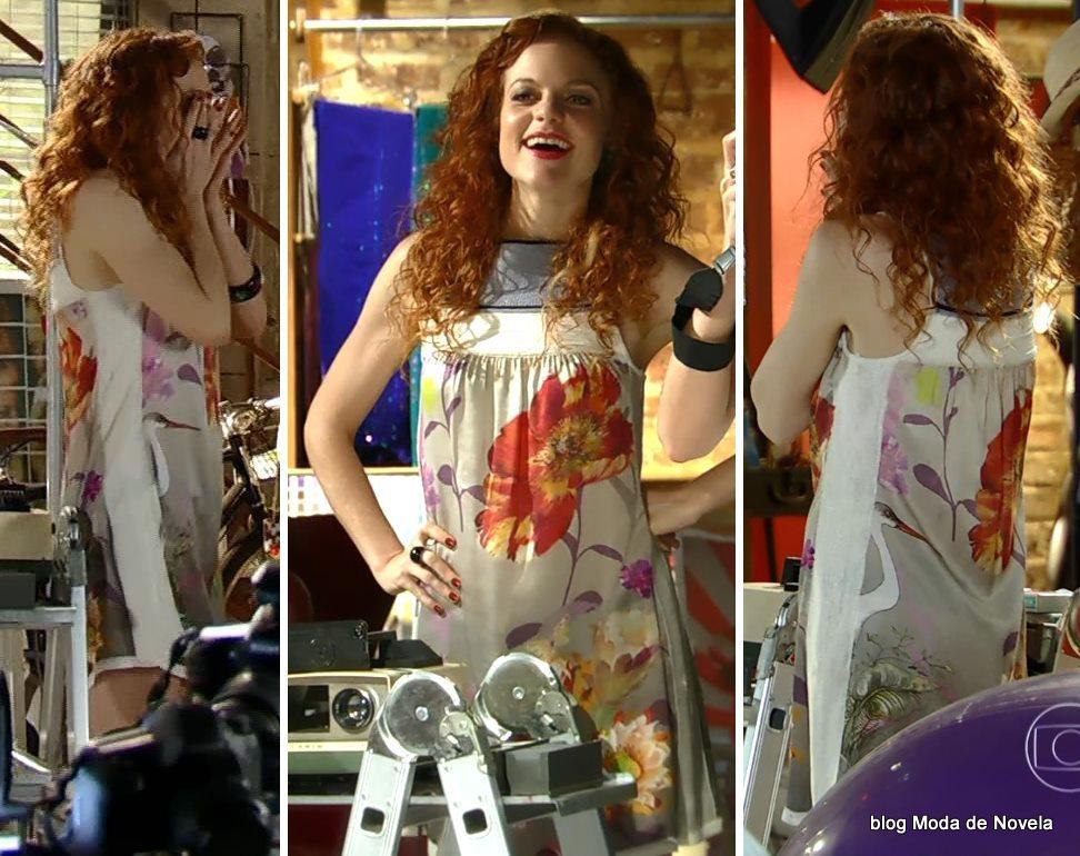 moda da novela Em Família - vestido da Vanessa dia 6 de maio