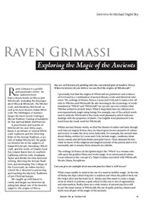 Cover of Michael Night Sky's Book Raven Grimassi Interview Exploring the Magic of the Ancients