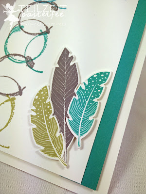 Stampin' Up! - In{k}spire_me #244, Color Challenge, Timeless Textures, Four Feathers, Framelits Feathers, Eins für Alles, And many more, birthday, Geburtstag