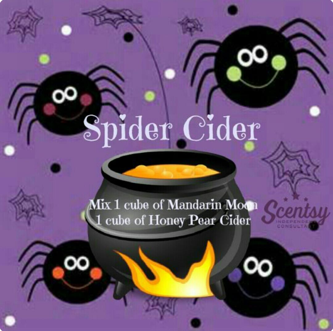 Amber Independent Scentsy Consultant Spider Cider Recipe