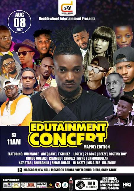 ELLYMAN Live on stage @  Moshood Abiola Polytechnic,  August 8