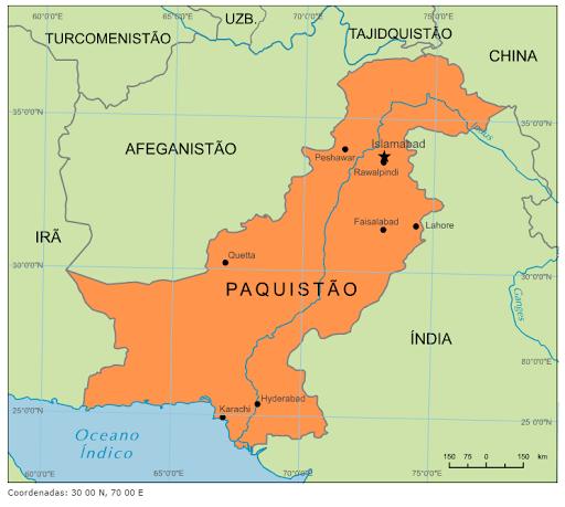 mapa do paquistão Blog de Geografia: Mapa do Paquistão mapa do paquistão