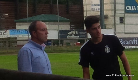 Ríos debutó con el Avilés en partido oficial