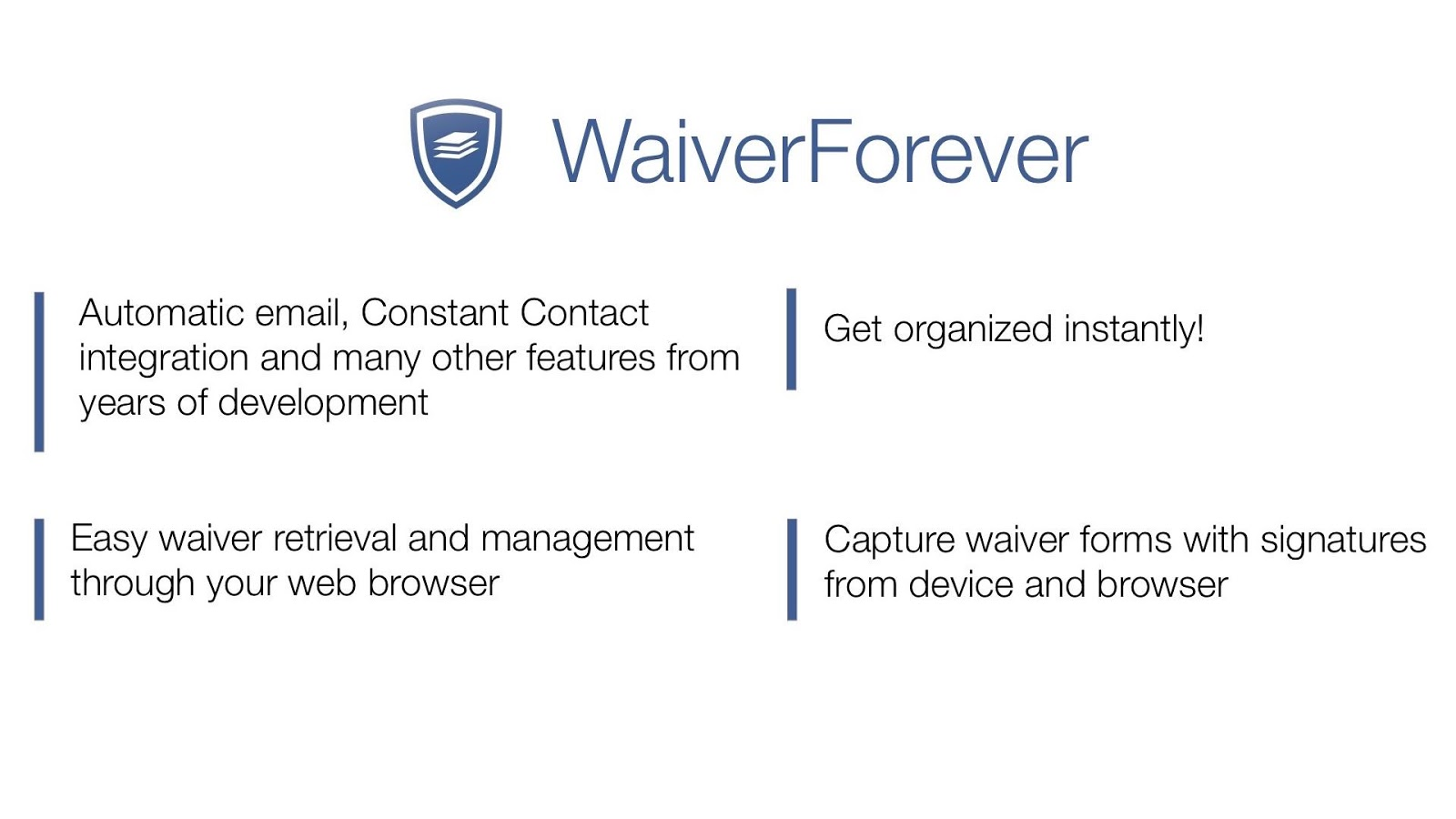 WaiverForever - Online Waivers- screenshot