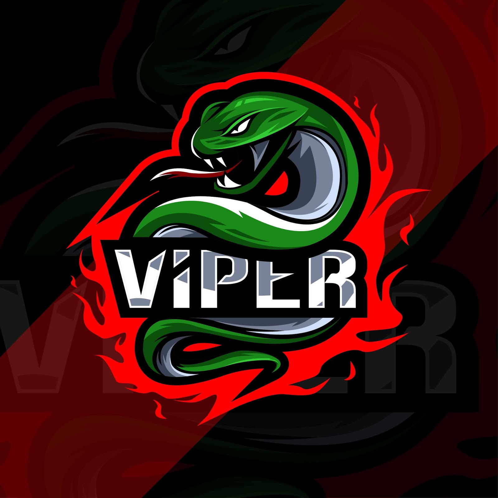 Viper Mascot Logo Esport Style Free Download Vector CDR, AI, EPS and PNG Formats