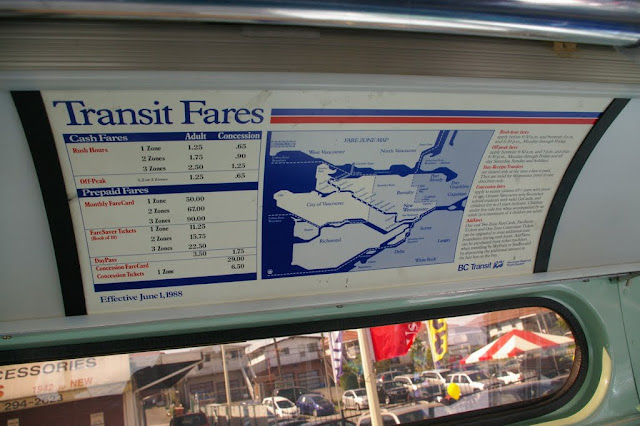 An old fare card circa 1988. Too bad they can't tie fare increases with the rate of inflation.