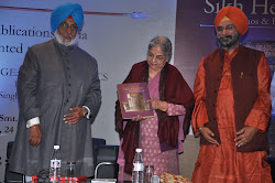 The authors with Mrs Gursharan Kaur as she launches Sikh Heritage: Ethis and Relics