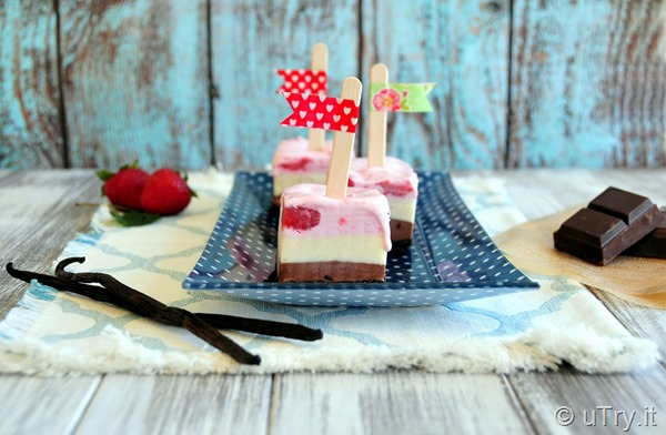 Neapolitan Ice Cream Pops 三色雪糕磚  http://uTry.it