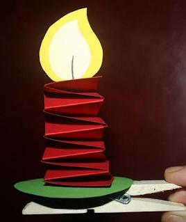 Atividades criança DIY Natal - Vela