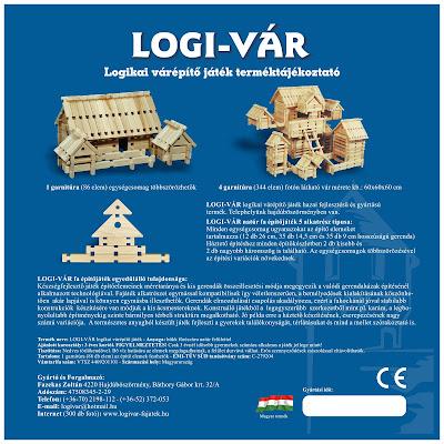 LOGI-VÁR fajáték 2 oldalas prospektus, 1. oldal