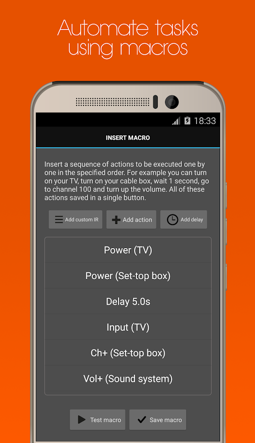 Universal Remote for HTC One- screenshot