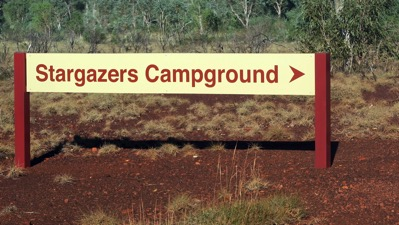 Stargazers Campground Sign