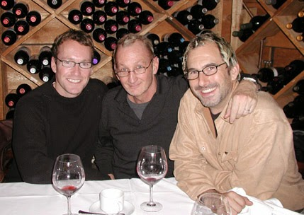 Out to dinner with my stunt double Doug Chapman and gaffer/kite surfer Rod Frew.