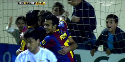 Copa Del Rey : Ceuta 0 vs 2 Barcelona 27-10-2010