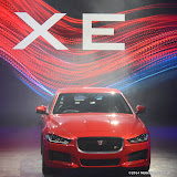 WWW.ENTSIMAGES.COM -   Jaguar XE - World premiere and  Global launch party at Earls Court Exhibition Centre, London September 8th 2014Jaguar premieres its new Jaguar XE car to press and VIPs                                               Photo Mobis Photos/OIC 0203 174 1069
