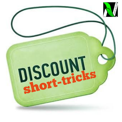 DISCOUNT | fast track formulae , shortcut tricks for all competitive examination|