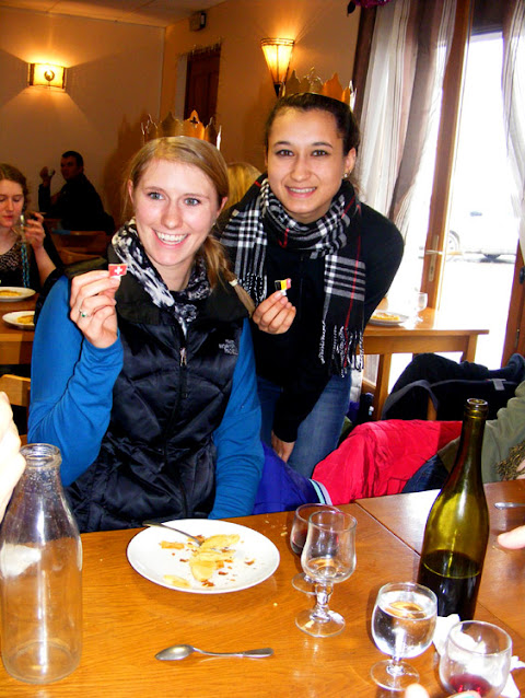 American visitors at a workers restaurant on Epiphany, Indre et Loire, France. Photo by Loire Valley Time Travel.