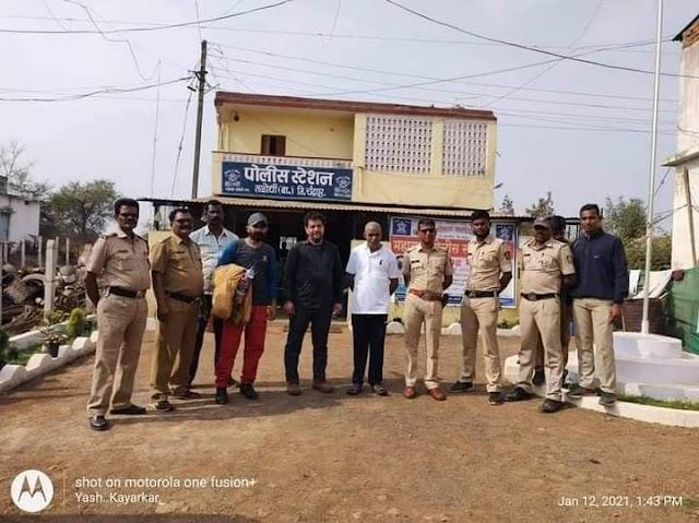 तळोधी पोलीस स्टेशन ठाणेदार यांचे दिलदारपणा काश्मीरच्या व्यक्तीला मिळविले परिवारासोबत