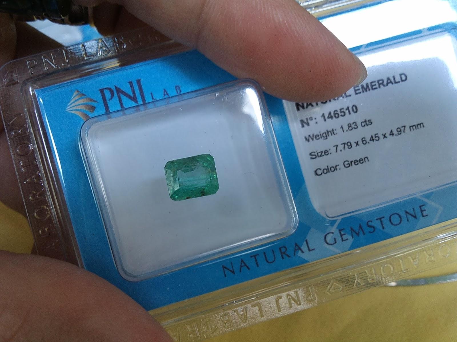 Đá quý Ngọc Lục Bảo thiên nhiên, Natural Emerald chất ngọc đã kiểm định PNJ ( 12/04/20, 11 )
