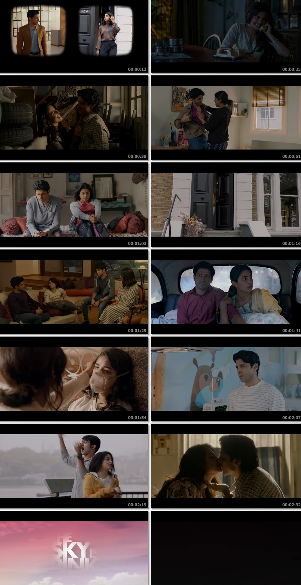 Screenshots Of Hindi Movie The Sky Is Pink 2019 Trailer official 480P HD