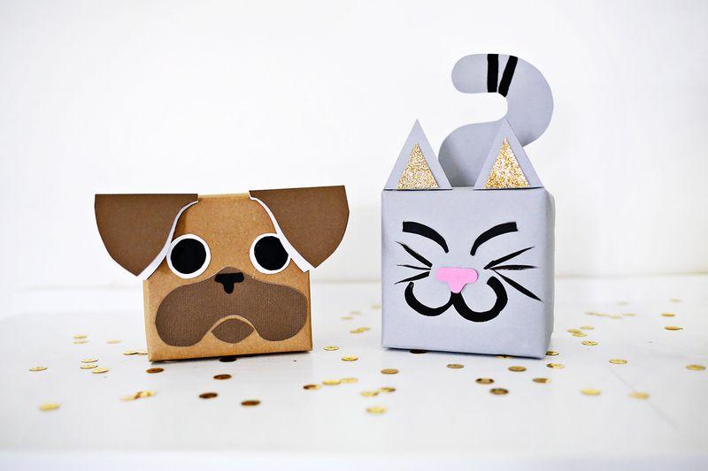 M s y m s manualidades 10 envolturas de regalos con forma for Envolturas para regalos
