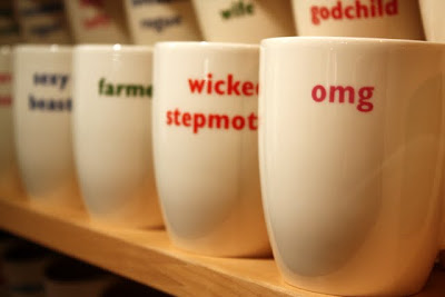 Mugs for sale in a shop in Clifton Bristol