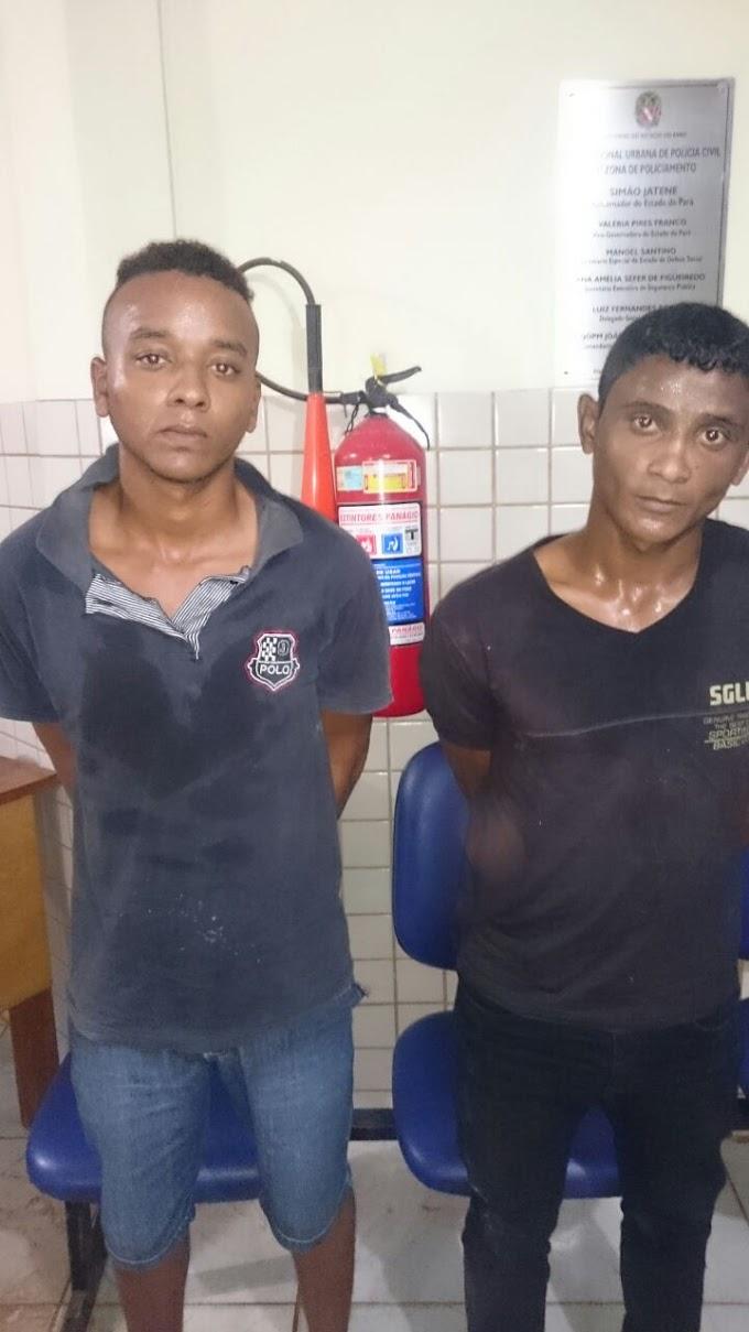 Dupla suspeita de assalto é presa com arma de fogo em Itaituba
