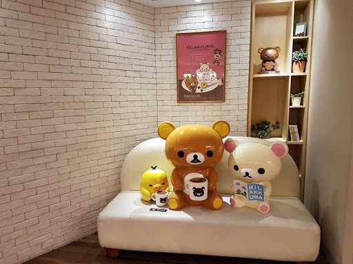 Cute Rilakkuma decoration at Rilakkuma Cafe in Taipei Taiwan
