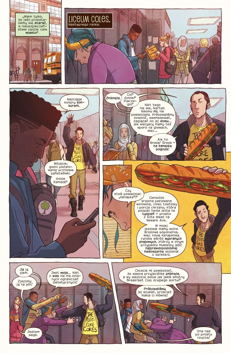 Ms Marvel tom 9 przykładowa strona