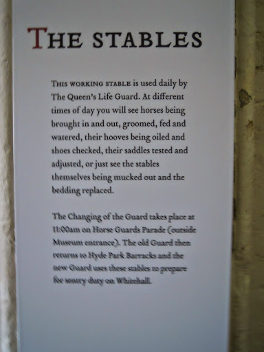 Household Cavalry Stables sign. From The Complete Guide to the Changing of the Guards