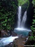 Twin Waterfall vid Git-Git, Bali.