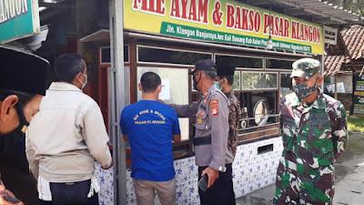 Gugus Tugas Covid 19 Kapanewon Kalibawang Tertibkan Warung Makan Terkait Pemberlakuan PPKM Darurat