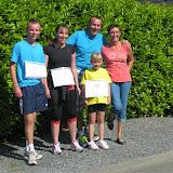 Le jogging des familles. Cécile va s'entraîner pour l'an prochain, si si, elle l'a promis :o)