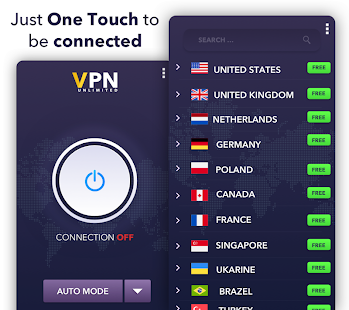 Gold Free VPN - Unlimited & NO LOGS Screenshot