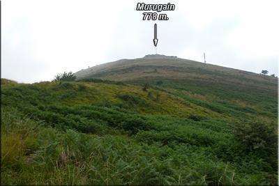 La cima de Murugain cada vez más cercana