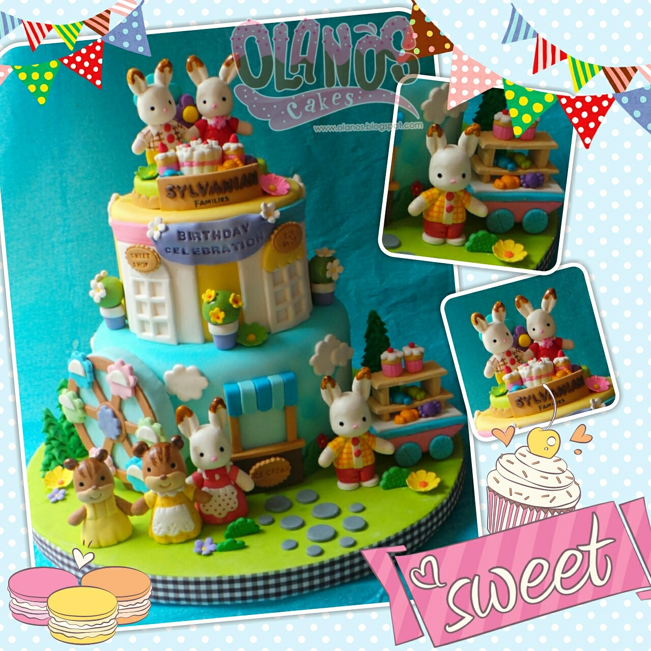 Olanos: Sylvanian Family Cake for Sylvanian Family Anniversary Event at Toys City
