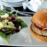 fine turkey burger at Hunter's Landing in Toronto, Ontario, Canada