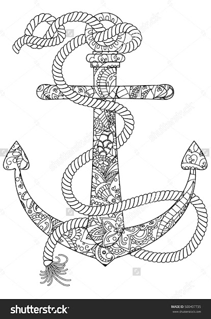 Ocean Coloring Page Anchor