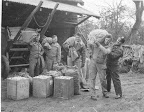 Preparations in Horham--likely near Thorpe Hall--for a Chowhound mission, early May 1945. Memorials Foundation photo. Source: Phil Samponaro95th Bomb Group Memorials Foundation