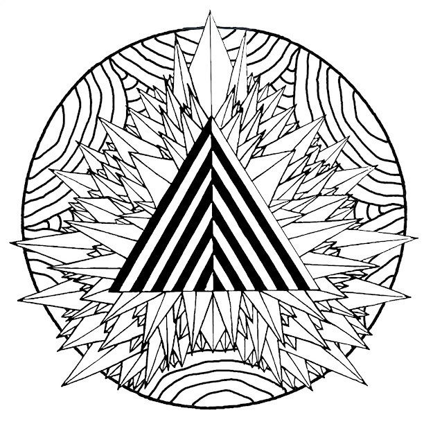 Coloringpagemandalamysticaltriangle Free To Print