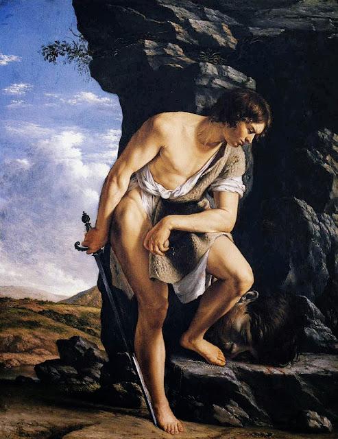 Orazio Gentileschi - David Contemplating the Head of Goliath-c.1610