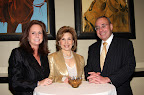Ladye Anne Rowe, Jewel Charity president Jeanie Luskey and jeweler Jack Miller.