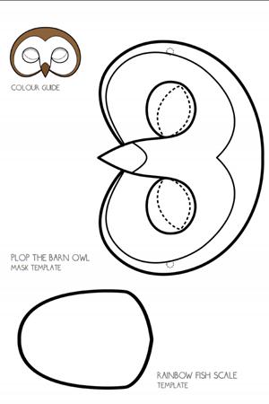 mascara búho colorear