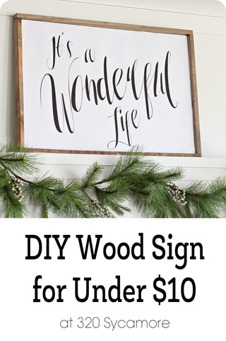 wood sign diy
