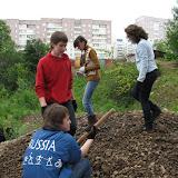 Этапы создания Экологической тропы. Используются только природные материалы - гравий, песок, дерево
